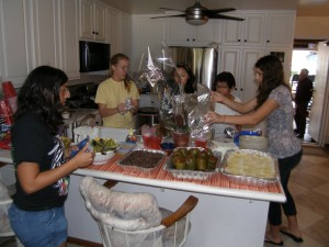 The Dream Catchers cooked an array of traditional Cuban fare with recipes found on the Internet.