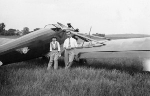 Mary Burchard with her boyfriend, Will, in her early pilot days. Courtesy Susan Mullins