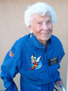 Mary Burchard is a member of the Women Airforce Service Pilots (WASP) and received the Congressional Medal of Honor for her service during World War II.
