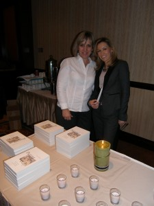 Debbie Robson, Executive Director of Hospice Care of the West, and Denise Carson, author of Parting Ways, at a presentation for Skilled Healthcare in Las Vegas. Photo by Jay Gianukos