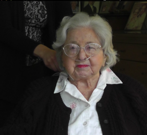 Marie Lasher, patient of Hospice Care of the West, shares her life stories and wisdom in recorded life review video to give as a gift to her family.