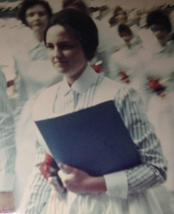 Lois Bechtle, of Hospice Care of the West, as a young nurse.