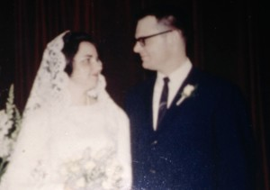 Lois and Sam Bechtle on their wedding day.