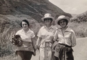 Lois Bechtle and her sisters in Columbia.
