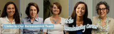 Bereavement Team at the Reminiscing Corner