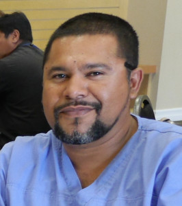 Edvin Tejeda, home health aide, at Hospice Care of the West.
